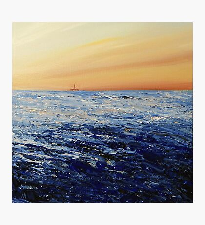 North Sea (with oil rig) Photographic Print
