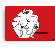 two noses one line Canvas Print
