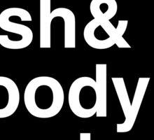 Jen & Josh & Woody & Elizabeth. (inverse) Sticker