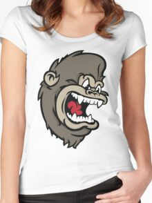 Monkeying Around. Women's Fitted Scoop T-Shirt