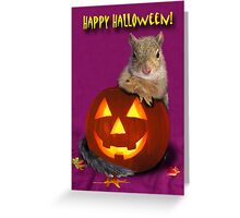 Halloween Squirrel Greeting Card