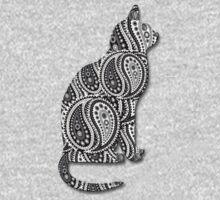 Paisley Yin Yang Cat Kids Clothes