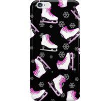 Black and Pink Ice Skating Print iPhone Case/Skin