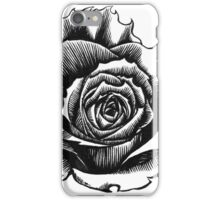 Rose Tattoo Too - Ink Drawing iPhone Case/Skin