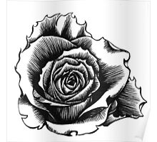 Rose Tattoo Too - Ink Drawing Poster