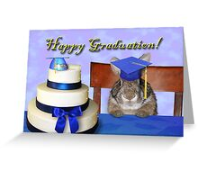 Graduation Bunny Rabbit Greeting Card