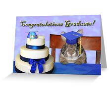 Congratulations Graduate Bunny Rabbit Greeting Card