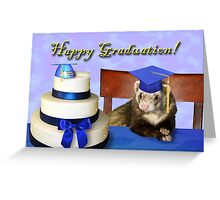 Graduation Ferret Greeting Card