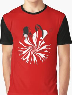 Candy Cane Children (on red) Graphic T-Shirt