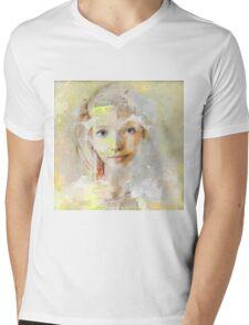 The nice girl Mens V-Neck T-Shirt