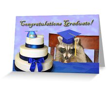 Congratulations Graduate Raccoon Greeting Card