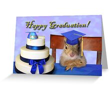 Graduation Squirrel Greeting Card
