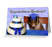 Congratulations Graduate Sheltie Puppy Greeting Card