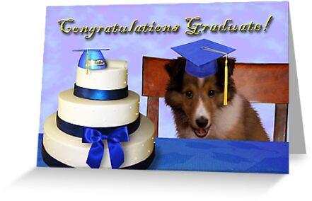 Congratulations Graduate Sheltie Puppy by jkartlife