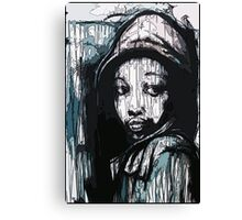 Street art portrait in Bristol Canvas Print