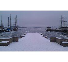 Freezing Harbor Photographic Print