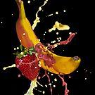 Banana & Strawberry Splatter by Mick Frank