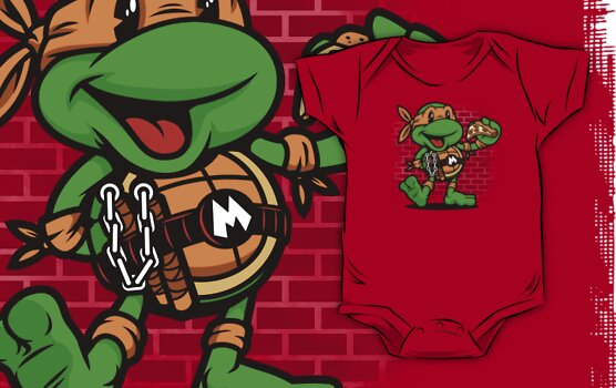 Vintage Michelangelo by harebrained