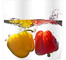 Red & Yellow Peppers 1 Poster