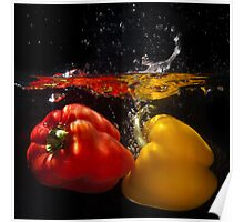 Red & Yellow Peppers 2 Poster