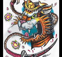 Tiger Samurai by OllieKeable