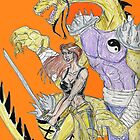 April O'Neil and the Warrior Dragon by Theaven