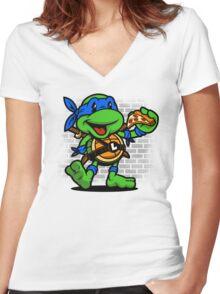 Vintage Leonardo Women's Fitted V-Neck T-Shirt