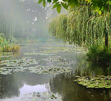 "My interpretation of Monet's ""Water-Lily Pond and Willow"". by cullodenmist"