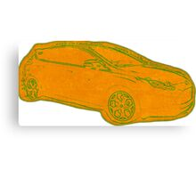 Focus ST Mk3 Drawing - Tangerine Scream Canvas Print