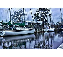 Stormy Canal Photographic Print