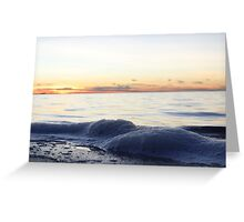Sunset and Bay with Foam Greeting Card