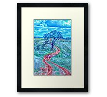 The Short And Winding Road  - Cootamundra NSW - The HDR Experience Framed Print