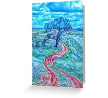 The Short And Winding Road  - Cootamundra NSW - The HDR Experience Greeting Card