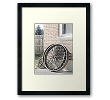 Wagon Wheels Pen & Ink Framed Print