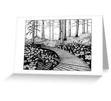 Path in the woods Greeting Card