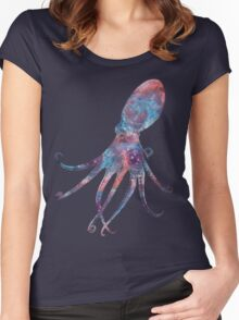 Cosmic Octopus! Women's Fitted Scoop T-Shirt