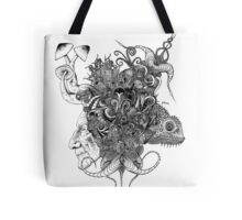 Psilocybinaturearthell Psychedelic Ink Illustration Tote Bag