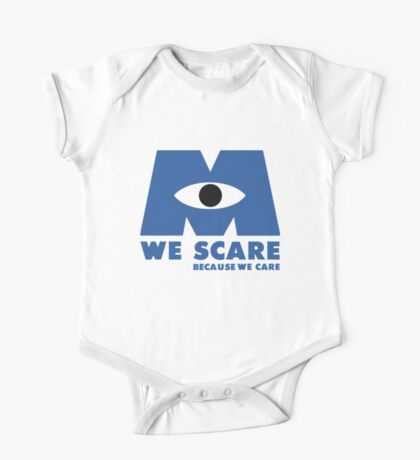 WE SCARE BECAUSE WE CARE One Piece - Short Sleeve