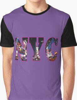 NEW YORK Pink Graphic T-Shirt