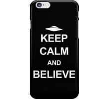 X-Files - Keep Calm and Believe (white text) iPhone Case/Skin