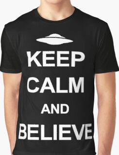 X-Files - Keep Calm and Believe (white text) Graphic T-Shirt