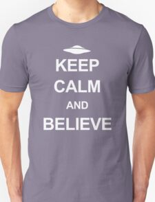X-Files - Keep Calm and Believe (white text) T-Shirt