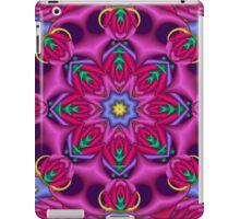 Colourful kaleidoscope fractal design iPad Case/Skin