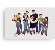 Fun with friends Canvas Print