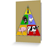 Manly Food Pyramid Greeting Card
