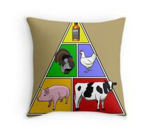 Manly Food Pyramid Throw Pillow