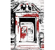 Grand Entrance - Black White And Red Series Photographic Print