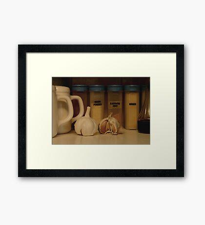 Spice shelf Framed Print