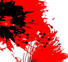 Splatter - Black White And Red Series by Betty Northcutt