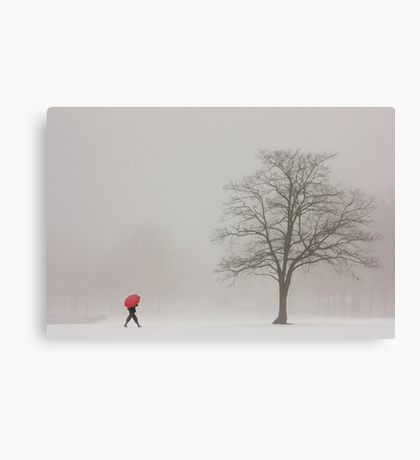 A SHORTCUT THROUGH THE SNOW Canvas Print